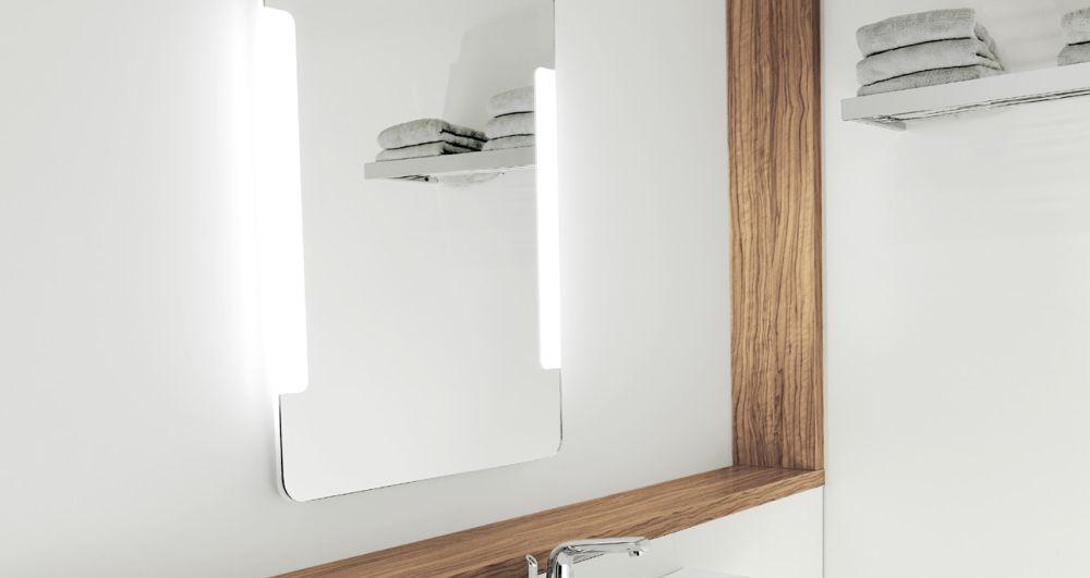 Oglinda baie cu LED